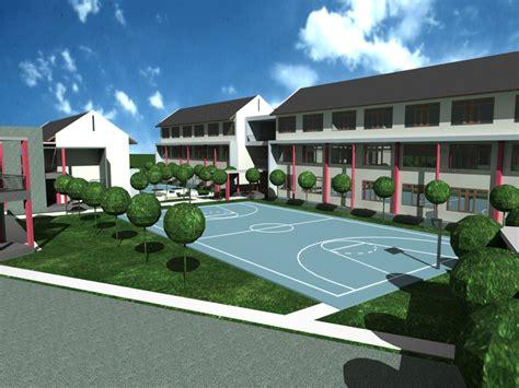 desain sekolah modern dan elegan pg properti pg properti