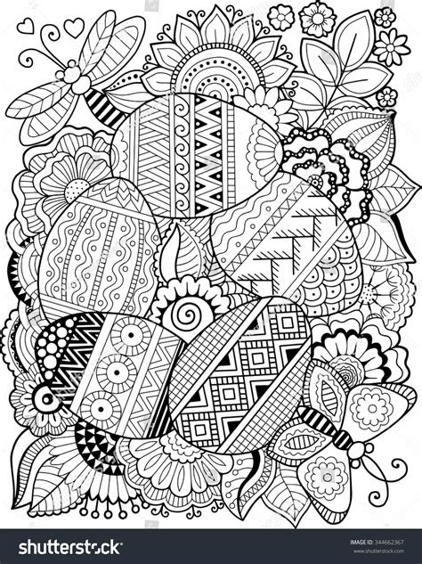 easter color by numbers coloring book for adults an easter humor coloring book for adults with easter bunnies easter eggs and only sweary coloring books volume 9 books vector coloring book easter egg stock vector