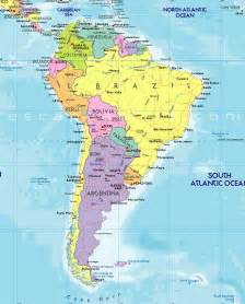 map of the and south america map of south america free large images