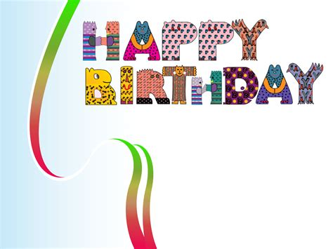 happy birthday design backgrounds presnetation ppt