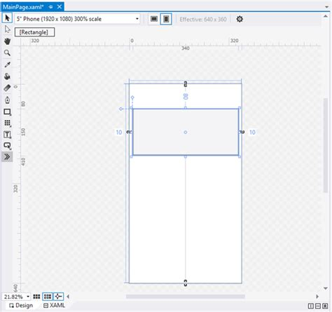 layout attributes for elements in rect drawing in microsoft blend 2015 for visual studio