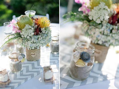 Handmade Centerpieces For Weddings - handmade white gray yellow wedding every last detail