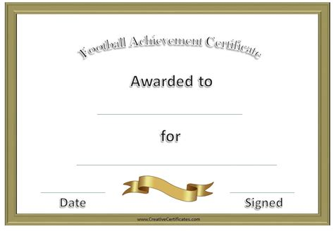 football certificate templates free football awards football football awards