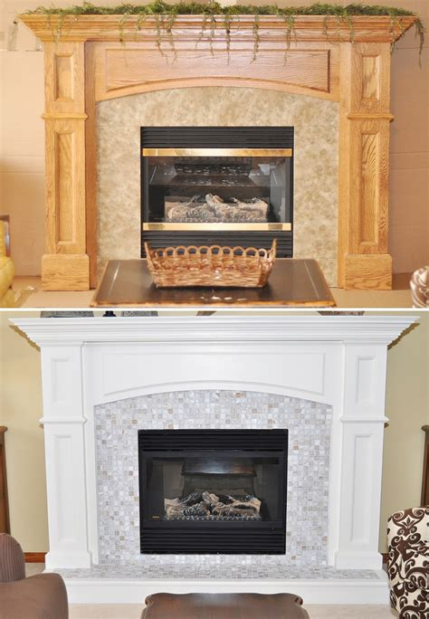 Gas Fireplace Makeover by Gas Fireplace Surround Paint Woodworking Projects Plans