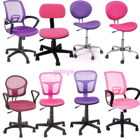 kids computer desk chairs uk ship purple pink kid study gift mesh office