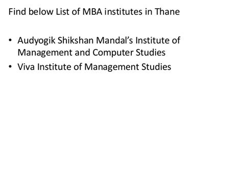 Mba Colleges In Thane List by List Of Mba Institutes In Thane