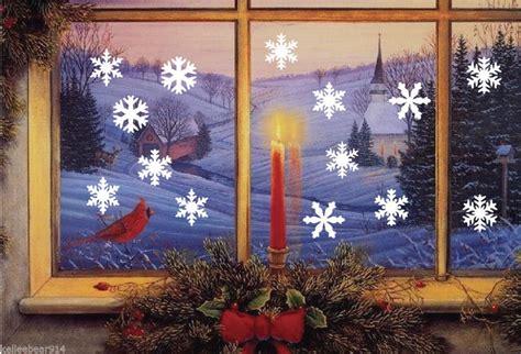 pcsset merry christmas snowflake vinyl wall sticker home decor bedroom shop market glasss