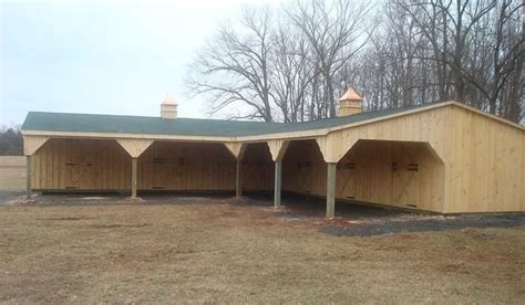 Used Shed Row Barn For Sale by Shed Row Barn With Lean To L Shape