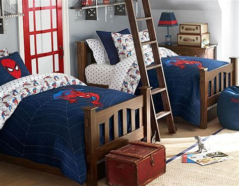 pottery barn boys bedroom i love the pottery barn kids spider man comic on