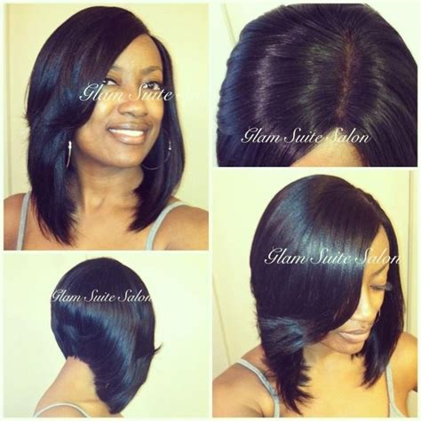 Long Bob Sew In Hairstyles | sew in bob w lace closure hair pinterest
