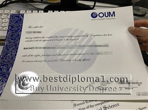 Oum Mba by Open Of Malaysia Bachelor Degree Oum