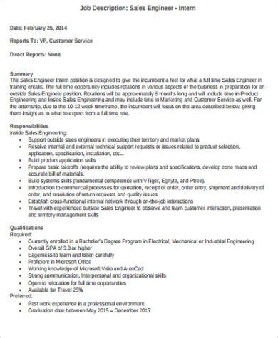 office intern description intern description sle 11 exles in word pdf