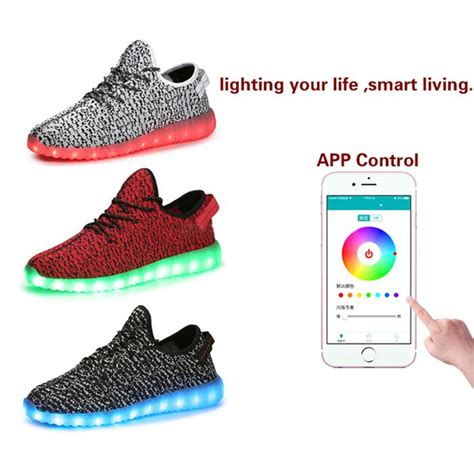light up shoes app 2016 new dropshipping app controlled led shoes latest