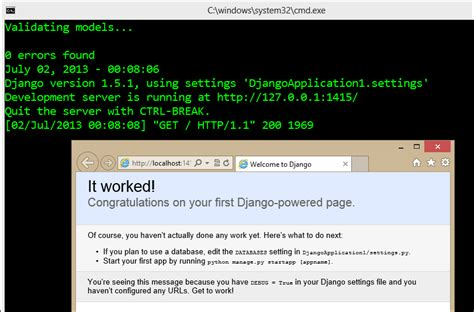 django tutorial in windows scott hanselman s blog scott hanselman on programming