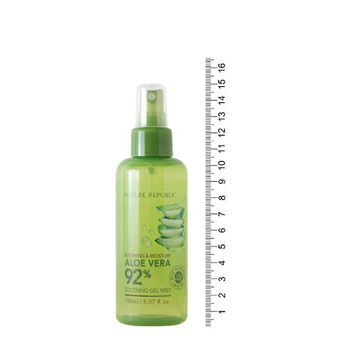 Nature Republic Aloe Vera 92 Soothing Gel Mist Original 20ml nature republic soothing moisture aloe vera gel mist hermo shop malaysia