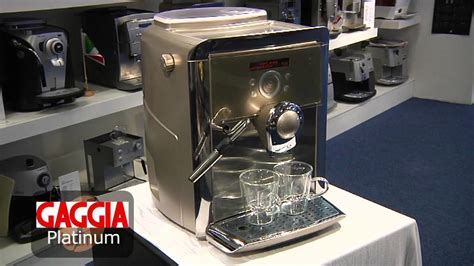 gaggia swing up gaggia platinum swing up kopen uitleg youtube