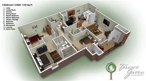 1 bedroom home floor plans