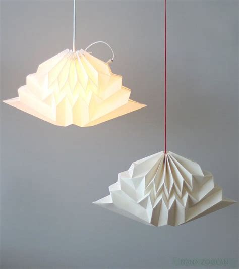 Paper Pendant Shade Cloud Origami Paper L Shade White Geometric Cloud Pendant L