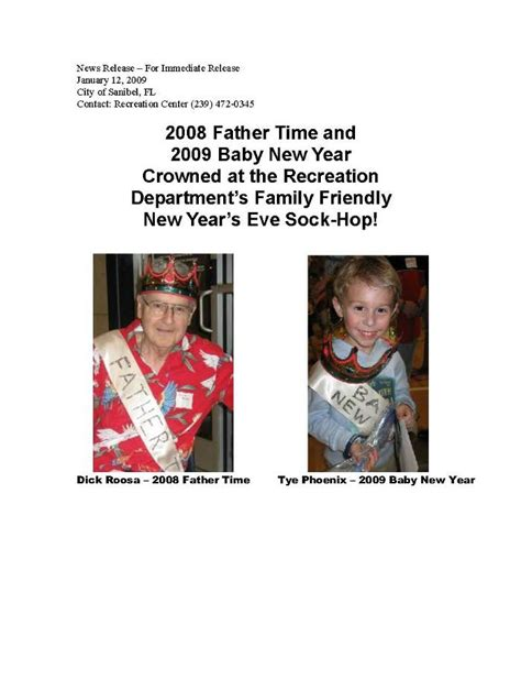 Florida Records Request Response Time 2008 Time And 2009 Baby New Year Crowned At The Recreation Department S