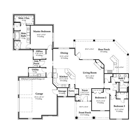2000 sq ft floor plans plan south louisiana house house plans 2100 square feet 3 bedroom louisiana house