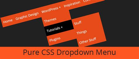 css tutorial little web hut how to create a pure css dropdown menu