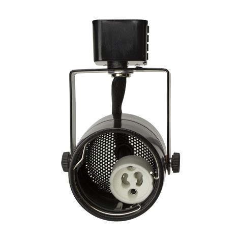 Gu10 Track Light Fixtures D D Brand H System Gu10 Line Voltage Track Lighting Fixture Black With 7 5w 3k Warm White Led