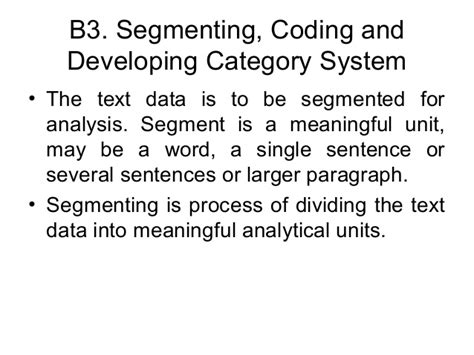 pattern or meaningful unit of information qualitative data analysis