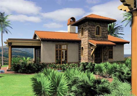 Small Mediterranean House Plans Southwestern House Plans Mission Adobe Home