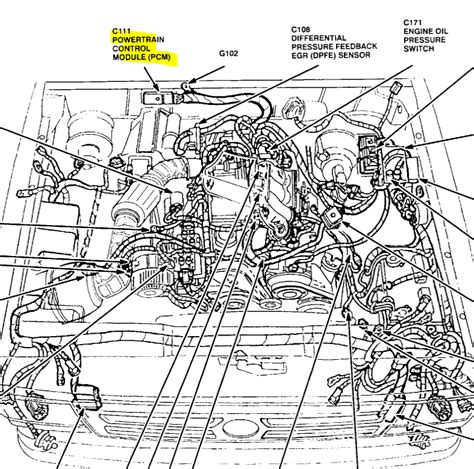 1996 ford ranger engine diagram where is the pcm located on my 1996 ford ranger 2 3