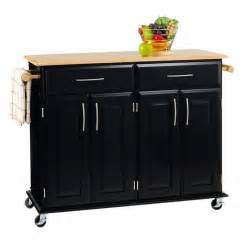 Black Kitchen Furniture by Home Styles Furniture Madison Black Kitchen Cart Ebay