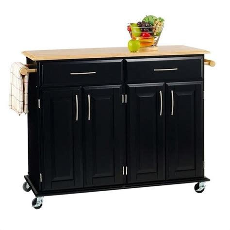 home styles furniture black kitchen cart ebay