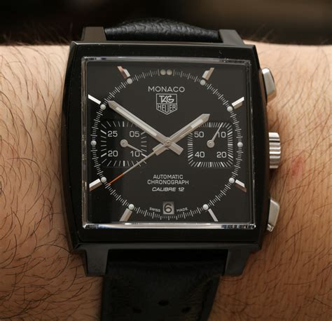 Tagheuer Monaco V4 Black tag heuer monaco calibre 12 acm edition review