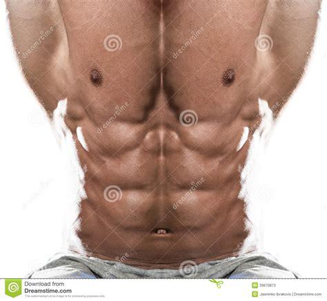 abdominal muscle close   white background stock photo image