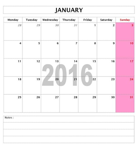 2016 Calendar Templates Microsoft And Open Office Templates Monthly Calendar Template Word