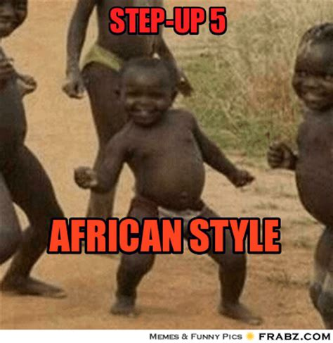 Little African Kid Meme - step up 5 dancing baby meme generator captionator