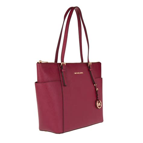 Ready Lg New Bag Fashion 063 michael kors designers luxury michael kors jet set lg ew tz tote cherry fashionette