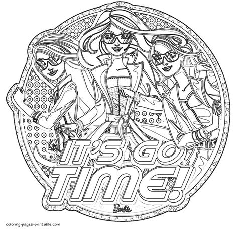 spy coloring pages to download and print for free coloring pages barbie spy squad