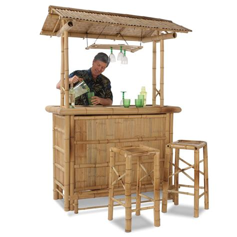 Tiki Bar Genuine Bamboo Tiki Bar The Green