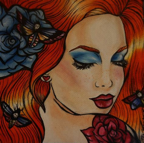 pin up girl home decor tattoo art rockabilly lowbrow pin up girl home decor