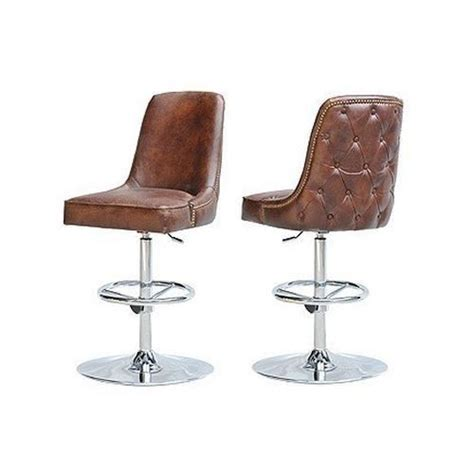brown bar stools leather swivel modern leather bar stool seat vintage cigar brown