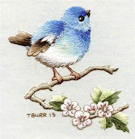 New Book Trish Burr Embroidery Bird Designs For