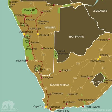 africa map namibia overland tour south africa namibia explorer 12 days