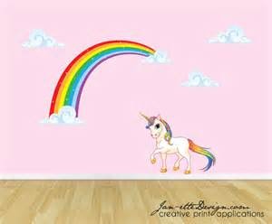 unicorn wall decal sticker rainbow art stickers baby room decoration pvc removable