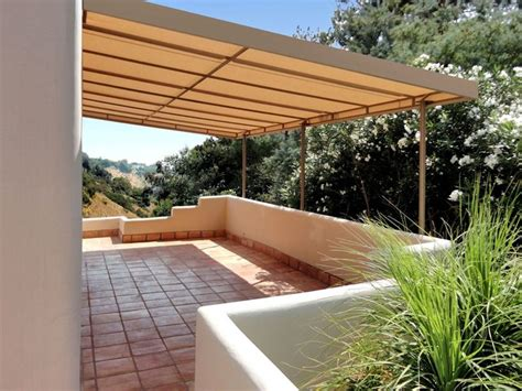 stationary canvas patio cover mediterranean los