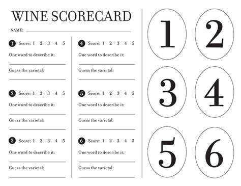 wine score cards template hosting a wine tasting with free printables