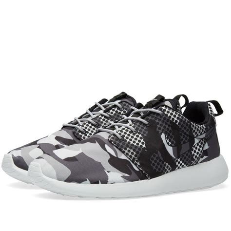 Nike Roshe One Camo Blacksummit White Bnib nike roshe run one camo print summit white grey 655206 100 169 nike roshe run sneakers