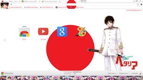 theme google chrome japan hetalia japan chrome theme by barela on deviantart