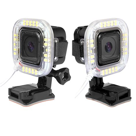 Flash Gopro external usb port led lens ring shooting flash light for