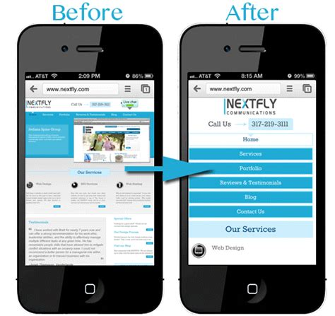 web layout for mobile mobile optimization responsive design services nextfly