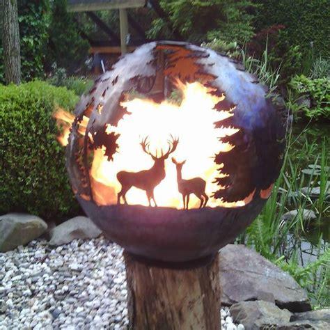 feuerkugel garten feuerkugel wald feuerball feuerkorb klein 40cm ohne bei